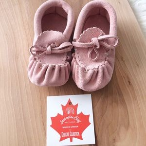 Other - Pink leather moccasins